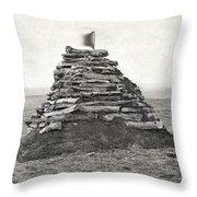 Little Bighorn Monument Throw Pillow by Granger