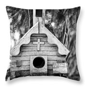 Little Birdie Church Throw Pillow