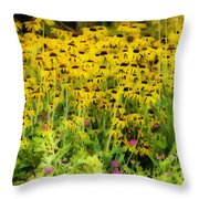 Little Bits Of Yellow Throw Pillow
