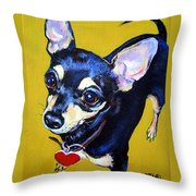 Little Bitty Chihuahua Throw Pillow