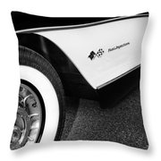 Little Black Corvette Palm Springs Throw Pillow