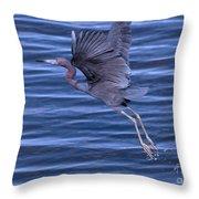 Little Blue Air Throw Pillow
