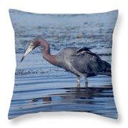 Little Blue Heron Egretta Caerulea Throw Pillow