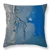 Little Blue Icicle Throw Pillow