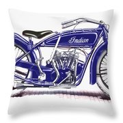 Little Blue Indian Throw Pillow
