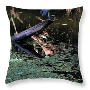 Little Blue Times Two Throw Pillow
