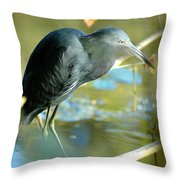 Little Blue View Throw Pillow