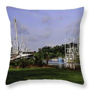 Little Brothers And Miss Edie Throw Pillow