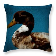 Little Brown Duck Throw Pillow