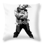 Little Buckaroo Throw Pillow
