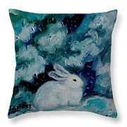 Little Bunny Foo Foo Throw Pillow