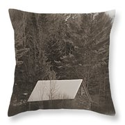 Little Cabin In The Woods Throw Pillow