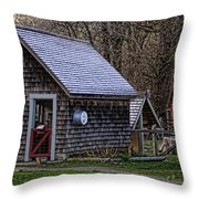 Little Cedar Shake Building Throw Pillow