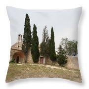 Little Chapel On A Hill Throw Pillow