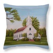 Little Chapel Throw Pillow