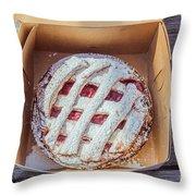 Little Cherry Pie Throw Pillow
