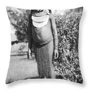 Little Chimbu Girl Papua New Guinea Throw Pillow