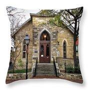 Little Church At La Villita  Throw Pillow
