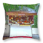 Little Cigar Shop Key West Throw Pillow