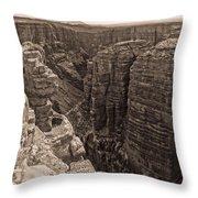 Little Colorado River Overlook Throw Pillow