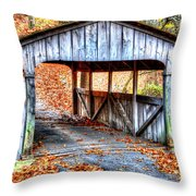 Little Covered Bridge II Throw Pillow