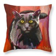 Little Darling Knows Throw Pillow
