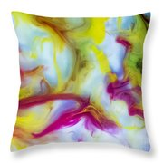 Little Dragon Watercolor Abstract Painting Throw Pillow