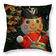 Little Drummer Boy Ornament Throw Pillow