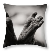 Little Feet Throw Pillow