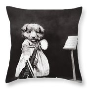 Little Fiddler Throw Pillow by Aged Pixel