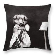 Little Fiddler Throw Pillow