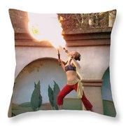 Little Fire Goddess Throw Pillow