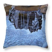 Little Frozen Waterfall Throw Pillow