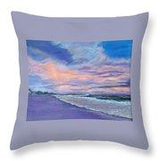 Little Gasparilla Island Sunset Throw Pillow