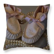 Little Girls To Pearls Throw Pillow