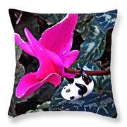 Little Glass Pandas 78 Throw Pillow