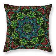 Little Green Men Kaleidoscope Throw Pillow