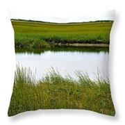 Little Green Paradise Throw Pillow