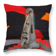 Little Head With Tongue Throw Pillow