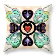 Little Hearts-3 Throw Pillow