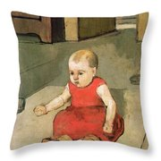 Little Hector On The Floor, 1889 Throw Pillow