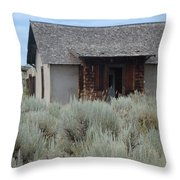 Little House In The Sage Throw Pillow