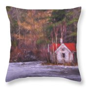 Little House On The Lake Throw Pillow