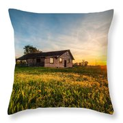 Little House On The Prairie Throw Pillow by Davorin Mance