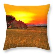 Little House On The Prairie Throw Pillow
