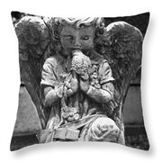 Little Kisses Bkwt Throw Pillow