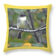 Little Lady Eastern Kingbird 4 Throw Pillow