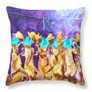 Little League Victory - Game End Throw Pillow