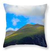 Little Man Skiddaw And Ullock Pike Throw Pillow