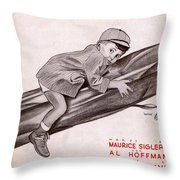 Little Man Youve Had A Busy Day Throw Pillow
